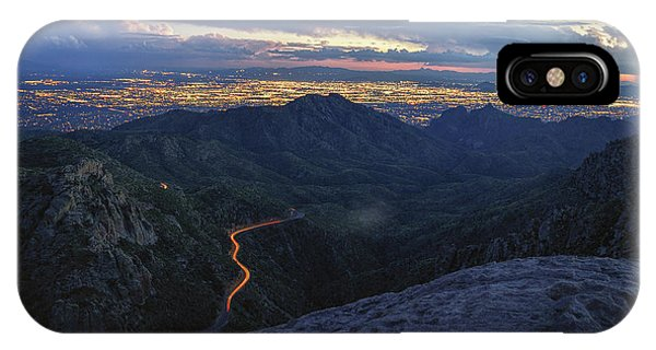 Catalina Highway And Tucson IPhone Case