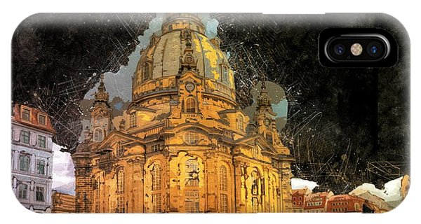 Frau iPhone Case - Cathedral, Dresden by ArtMarketJapan