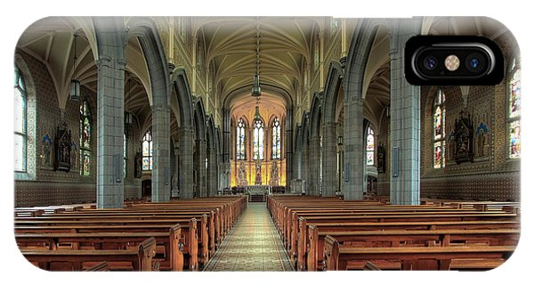 Columns iPhone Case - Cathedral In Newry, County Down by Tomasz Szymanski