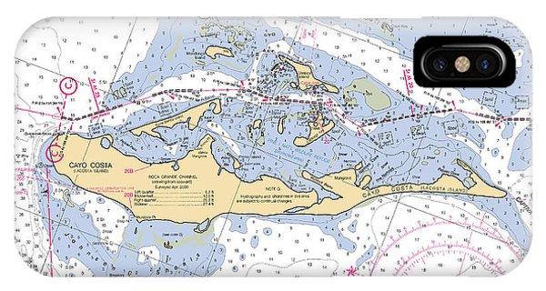 Cayo Costa Nautical Chart IPhone Case