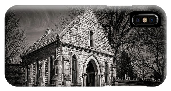 Cemetery iPhone Case - Cedar Hill Chapel by Tom Mc Nemar