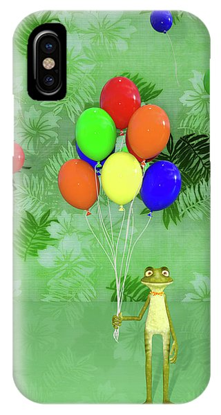 Dark Humor iPhone Case - Celebration With Frog by Betsy Knapp