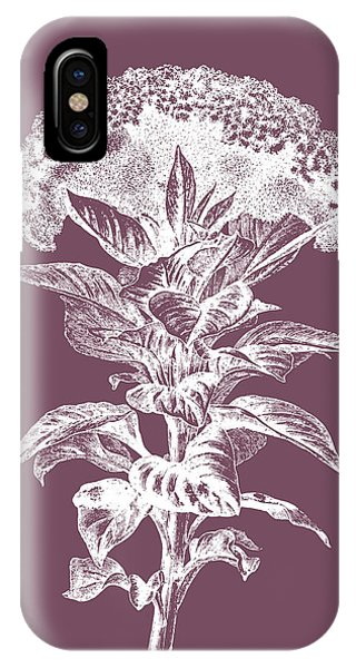 Bouquet iPhone X Case - Celosia Purple Flower by Naxart Studio
