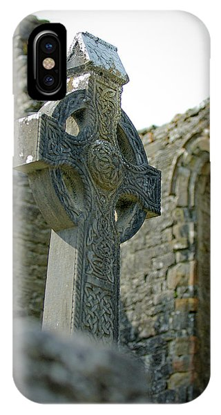 IPhone Case featuring the photograph Celtic Cross In Ireland by Mark Duehmig