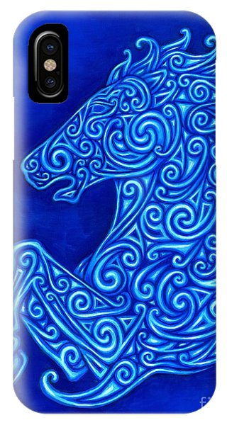 Celtics iPhone Case - Celtic Horse by Rebecca Wang