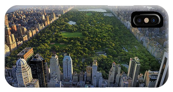 Office Buildings iPhone Case - Central Park Aerial View, Manhattan by T Photography