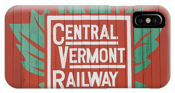 Red Caboose iPhone Case - Central Vermont Railway by Edward Fielding