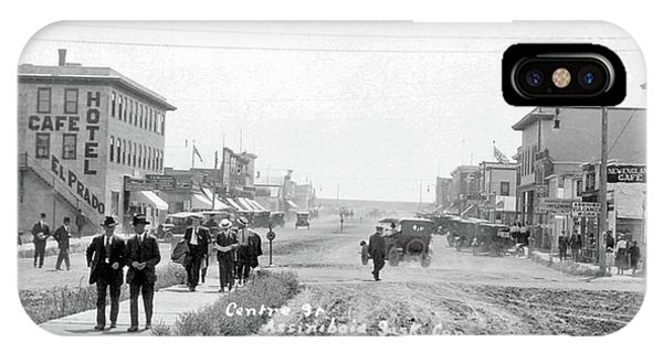 China Town iPhone Case - Centre Street  Assiniboia  Sasketchewan  Ca 1921 by Celestial Images
