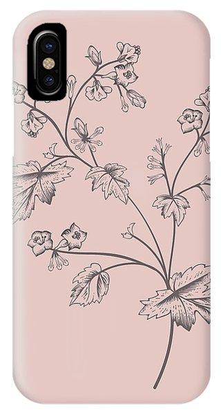 Bouquet iPhone X Case - Cerasus Purple Flower by Naxart Studio