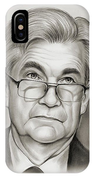 United States Presidents iPhone Case - Chairman Powell by Greg Joens