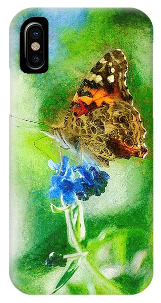 Chalky Painted Lady Butterfly IPhone Case