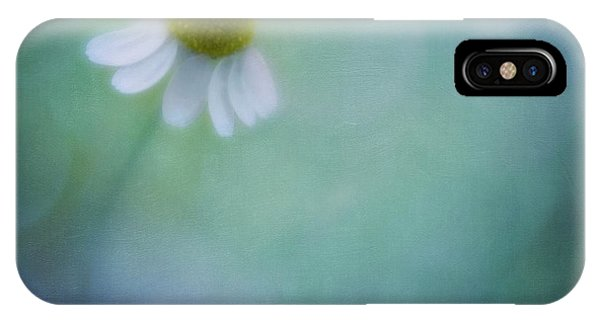 Teal iPhone Case - Chamomile Blossom by Priska Wettstein