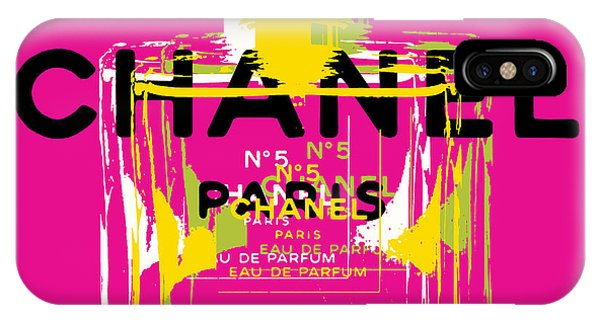 Perfume Bottles iPhone Case - Chanel No 5 Pop Art - #3 by Jean luc Comperat