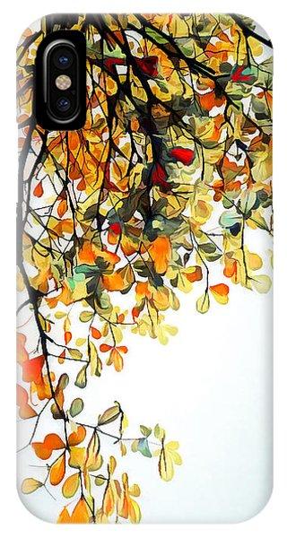 IPhone Case featuring the digital art Change Of Season by Pennie McCracken