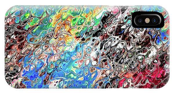 IPhone Case featuring the digital art Chaos Abstraction Bright by Don Northup