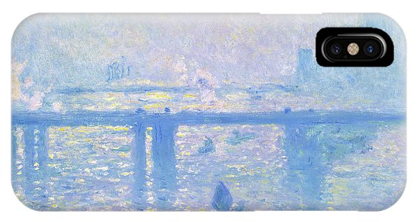 Smoke Fantasy iPhone Case - Charing Cross Bridge - Digital Remastered Edition by Claude Monet