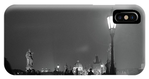 IPhone Case featuring the photograph Charles Bridge At Night by Mark Duehmig