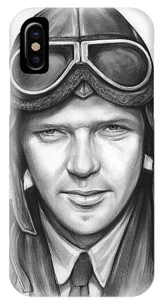 Inventor iPhone Case - Charles Lindbergh by Greg Joens