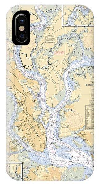 Charleston Harbor, Noaa Chart 11524 IPhone Case