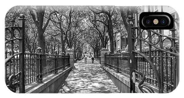Battery D iPhone Case - Charleston Riverfront Park Black And White by Dan Sproul