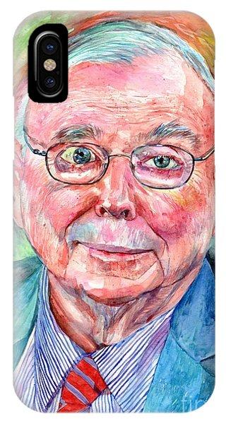 Barbara iPhone Case - Charlie Munger Portrait by Suzann Sines