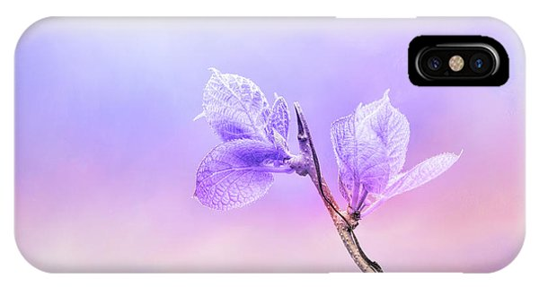 Charming Baby Leaves In Purple IPhone Case