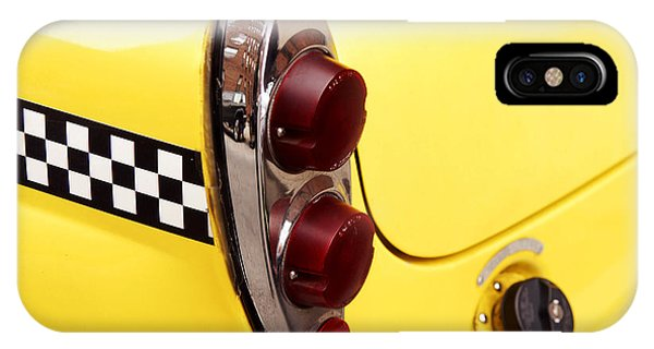 Cab iPhone Case - Checkered Cab by Jonathan Feinstein