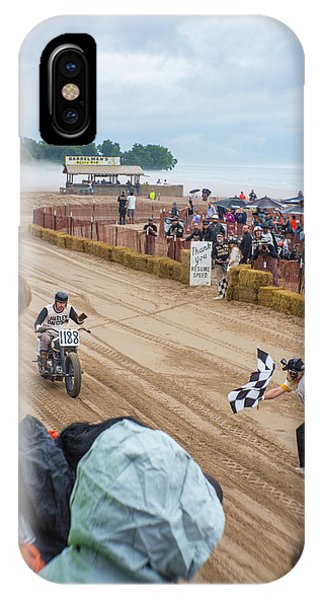 Tiki Bar iPhone Case - Checkered Flag Taunt by Vincent Buckley