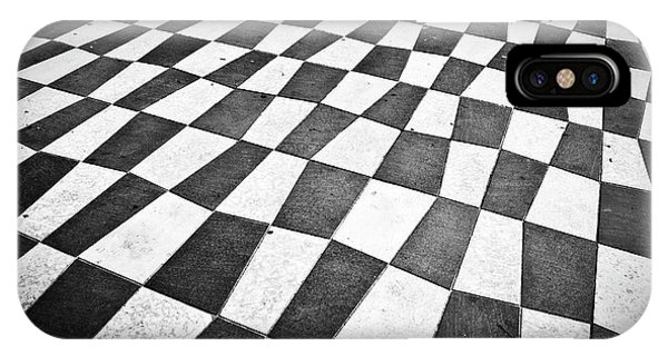 French Riviera iPhone Case - Checkered Pavement by Delphimages Photo Creations
