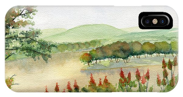 Endless iPhone Case - Chemung River Autumn by Melly Terpening