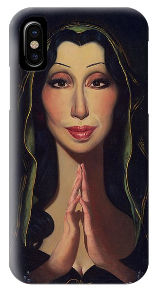 Sonny And Cher iPhone Case - Cher by Thomas Fluharty