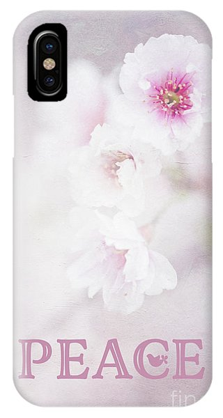 Cherry Blossom Peace Art IPhone Case