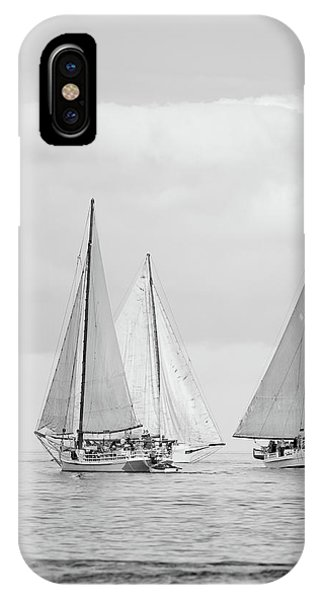 IPhone Case featuring the photograph Chesapeake Bay Skipjacks by Mark Duehmig