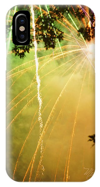 Yellow Fireworks IPhone Case