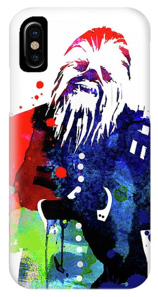 Film iPhone Case - Chewbacca In A Suite Watercolor by Naxart Studio