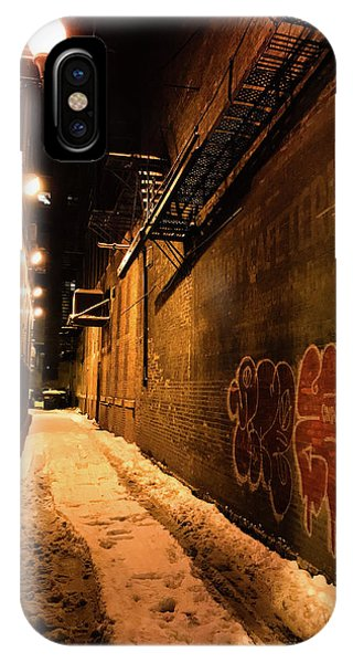 Chicago Alleyway At Night IPhone Case