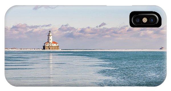 Chicago Harbor Light Landscape IPhone Case
