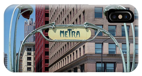 IPhone Case featuring the photograph Chicago Metra by Melanie Alexandra Price