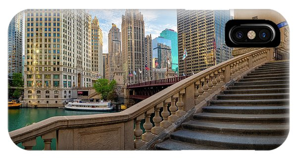 Chicago River iPhone Case - Chicago Riverwalk  by Inge Johnsson
