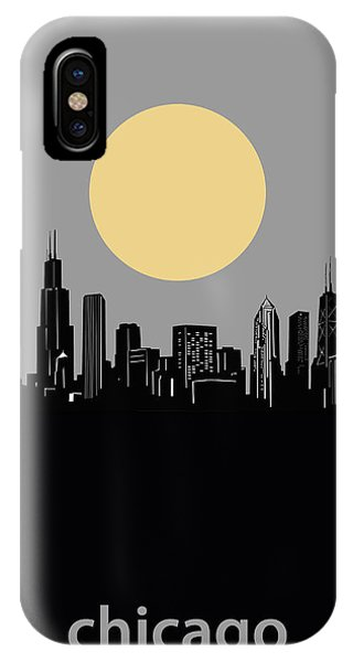 John Hancock Center iPhone Case - Chicago Skyline Minimalism 2 by Bekim M