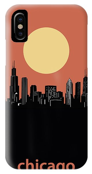 John Hancock Center iPhone Case - Chicago Skyline Minimalism 4 by Bekim M