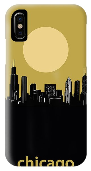 John Hancock Center iPhone Case - Chicago Skyline Minimalism 5 by Bekim M
