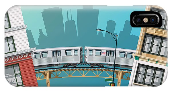 Office Buildings iPhone Case - Chicago Traffic by Nikola Knezevic