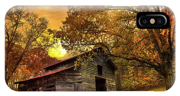 Smokey iPhone Case - Chill Of An Early Fall by Debra and Dave Vanderlaan
