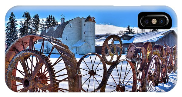 iPhone Case - Chilly Day At The Barn by David Patterson