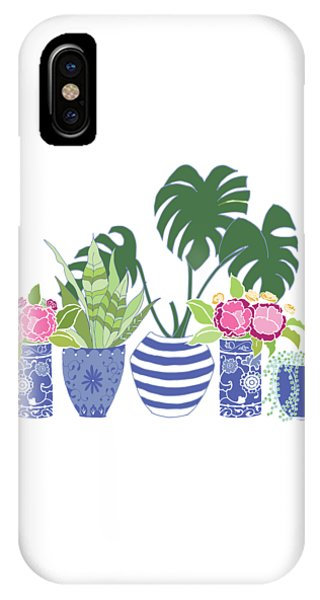Peony iPhone Case - Chinoiserie Garden by Roleen Senic