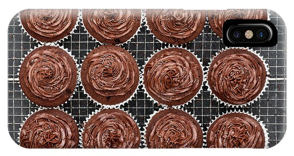 IPhone Case featuring the photograph Chocolate Cupcakes by Tim Gainey