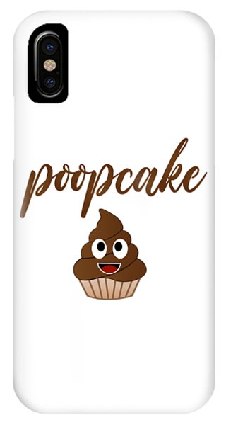 Toilet Humor iPhone Case - Chocolate Muffin Cake For Birthday With Chocolate Cream by Shawlin
