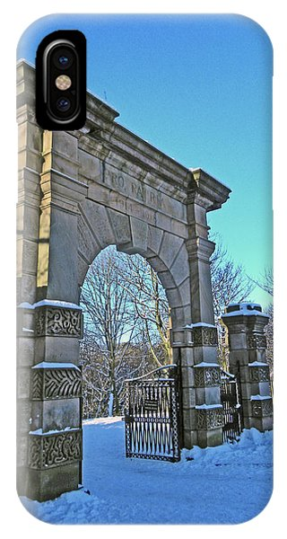 Chorley. Gates In The Snow IPhone Case