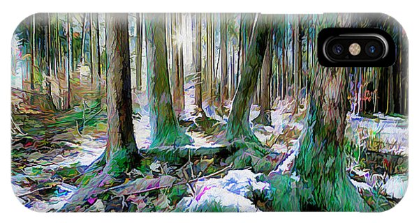 IPhone Case featuring the digital art Chorus Of Trees by Edmund Nagele